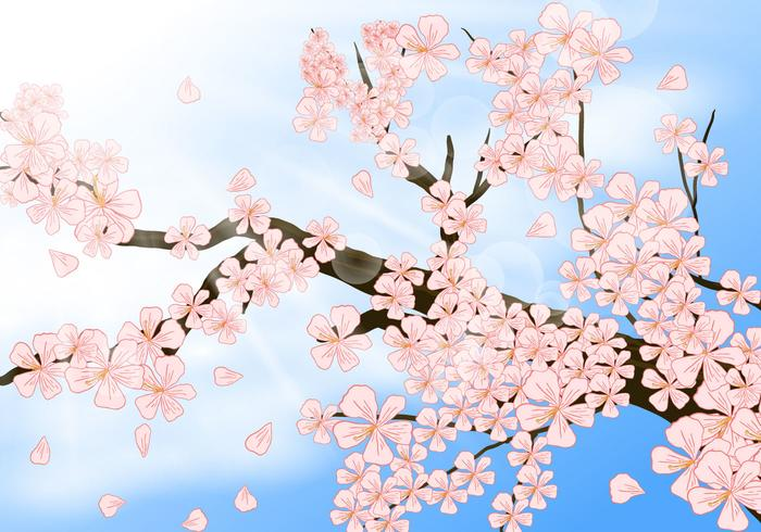 Peach Blossom I Shinny Day vektor
