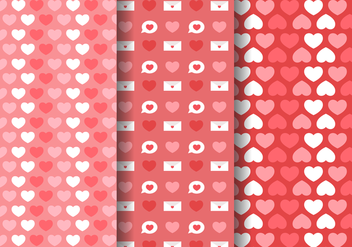 Gratuit Love Hearts Motif