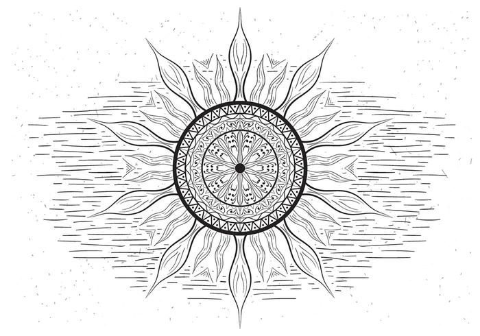 Free Mandala Vector Sun Illustration