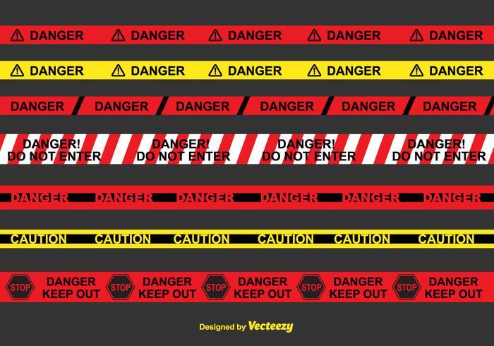 Danger Tape Vector Set