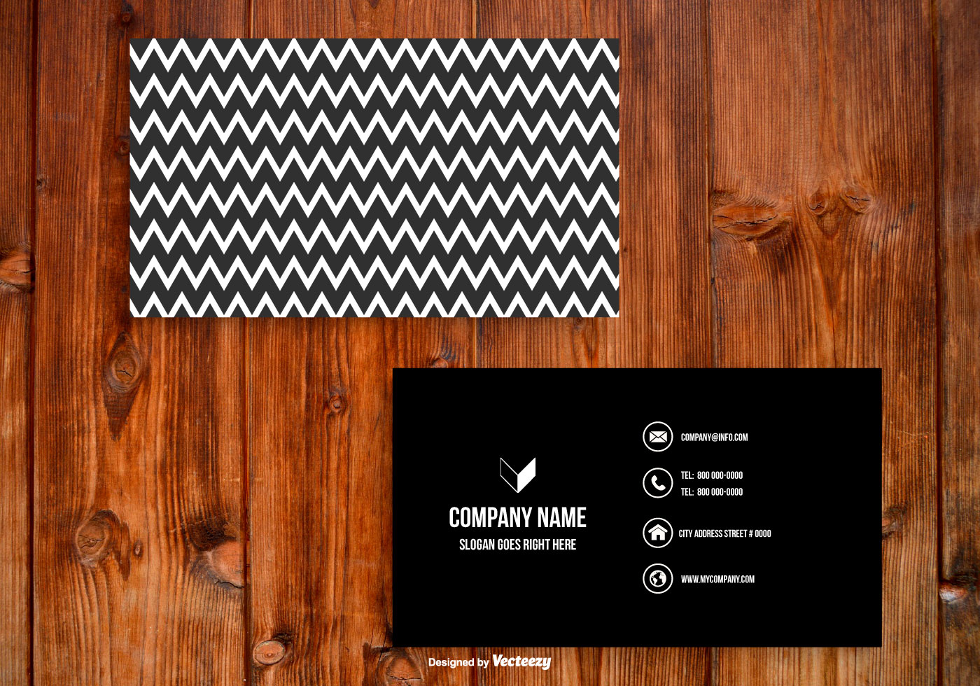 Black and White Chevron Business Card Template - Download Free ...