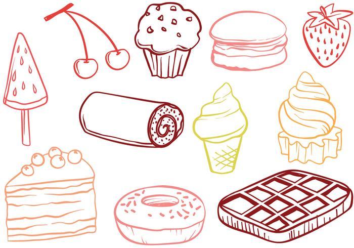 Vecteurs libres de dessert vecteur