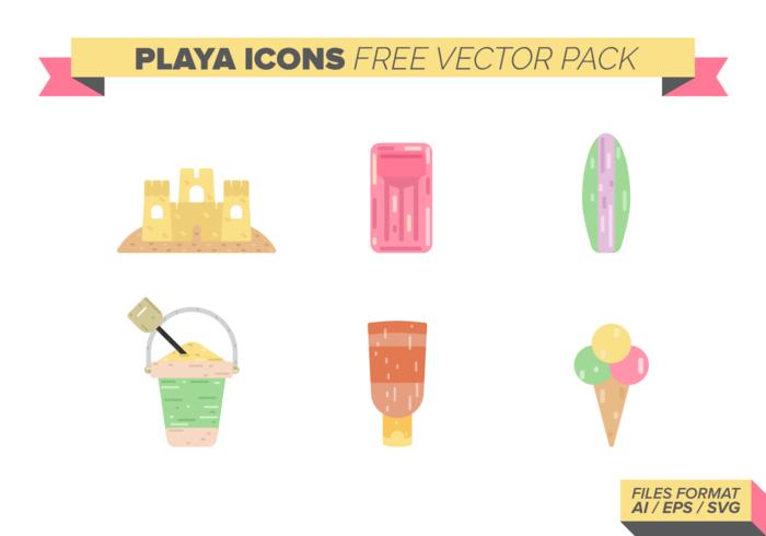 Playa Icons gratuito Pacote Vector