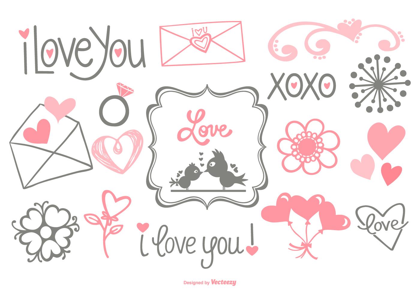 doodles cute hand vector drawn vectors clipart lettering
