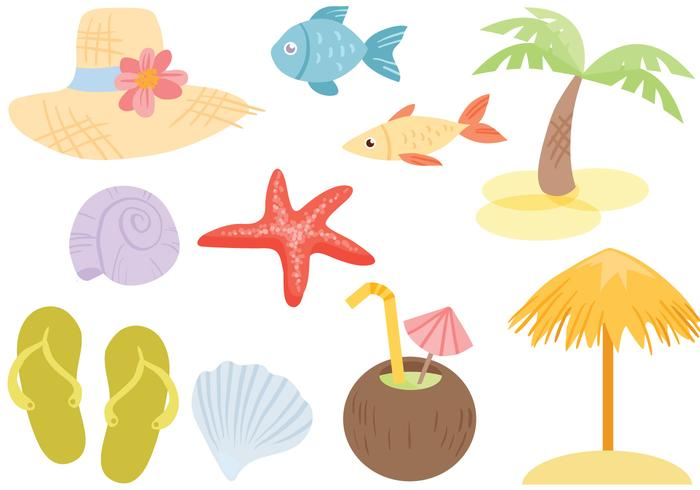 Los vectores de mar libre de la playa