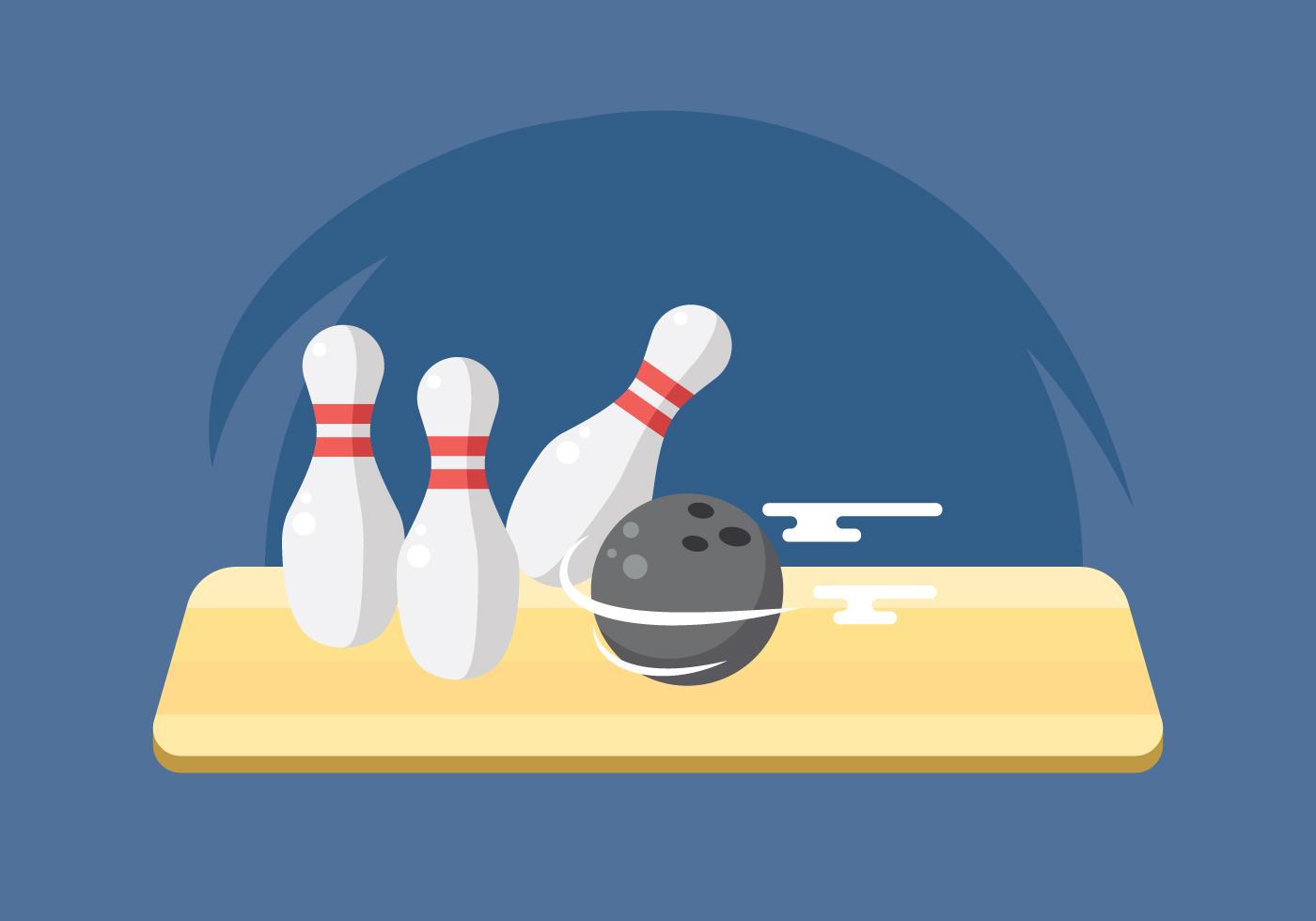 Illustration Of Bowling Ball Smashing Pins Download Free