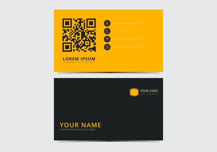 Yellow Stylish Business Card Template vector