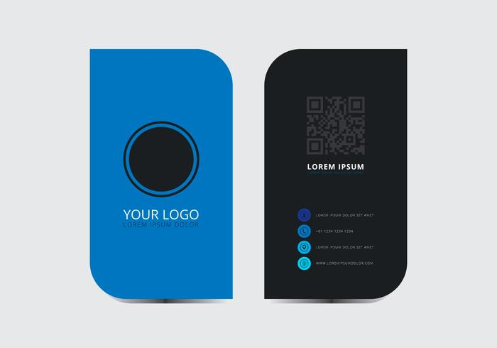 Blue Stylish Business Card Template