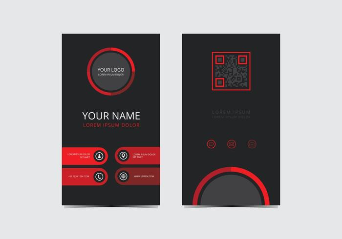 Red Stylish Business Card Template vector