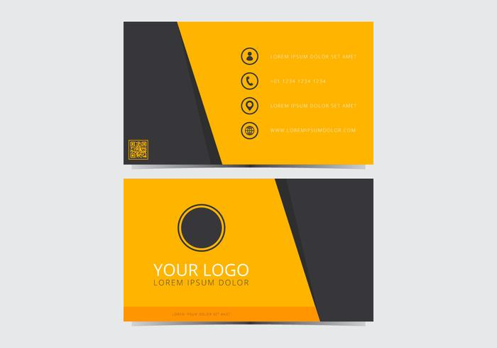 Yellow Stylish Business Card Template