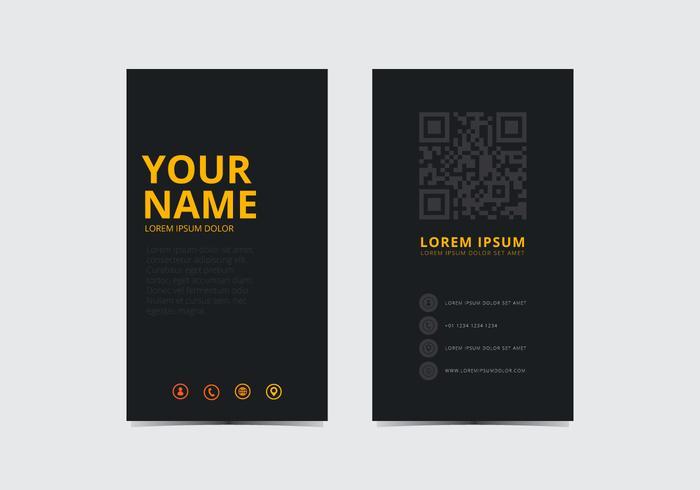 Modèle jaune Carte de visite élégant