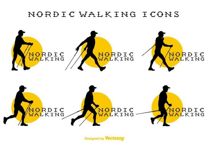 Vectorial Signs Nordic Walking