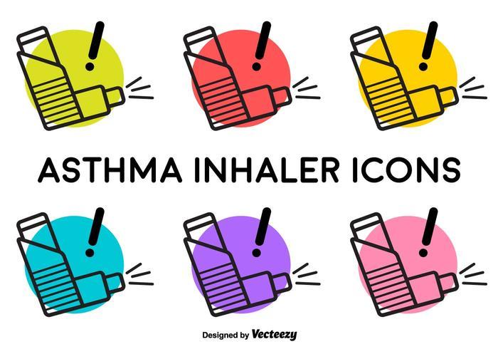 Vector Inhalador de Asma Signos