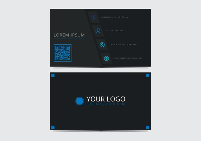 Blue Stylish Business Card Template vector