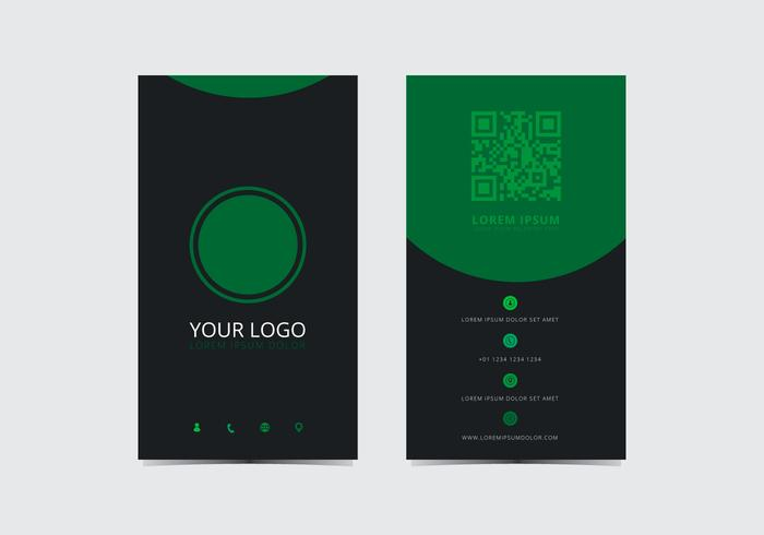 Green Stylish Business Card Template