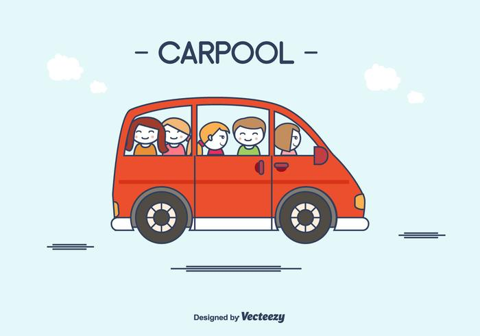 Flat Carpool Vector