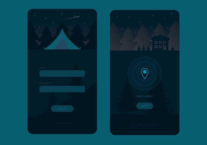 Living In the Forest Mobile UI Vectors