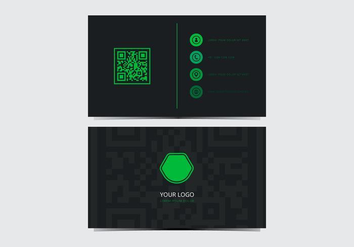 Modèle vert Carte de visite élégant