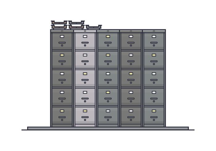 Stack of File Cabinet Vectors