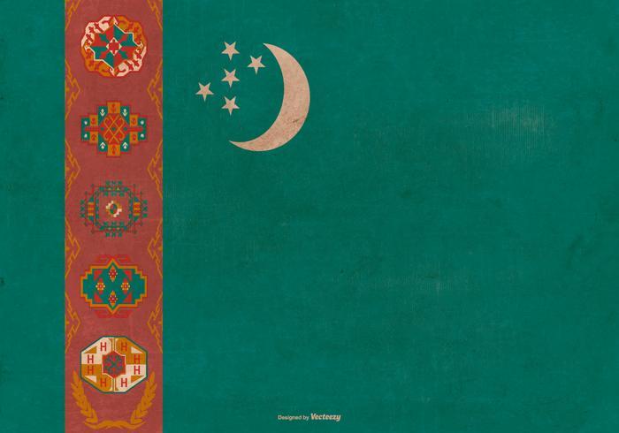 Grunge Flag of Turkmenistan