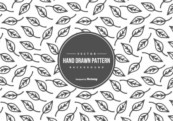 Mão bonito Drawn Folha Estilo Fundo do teste padrão