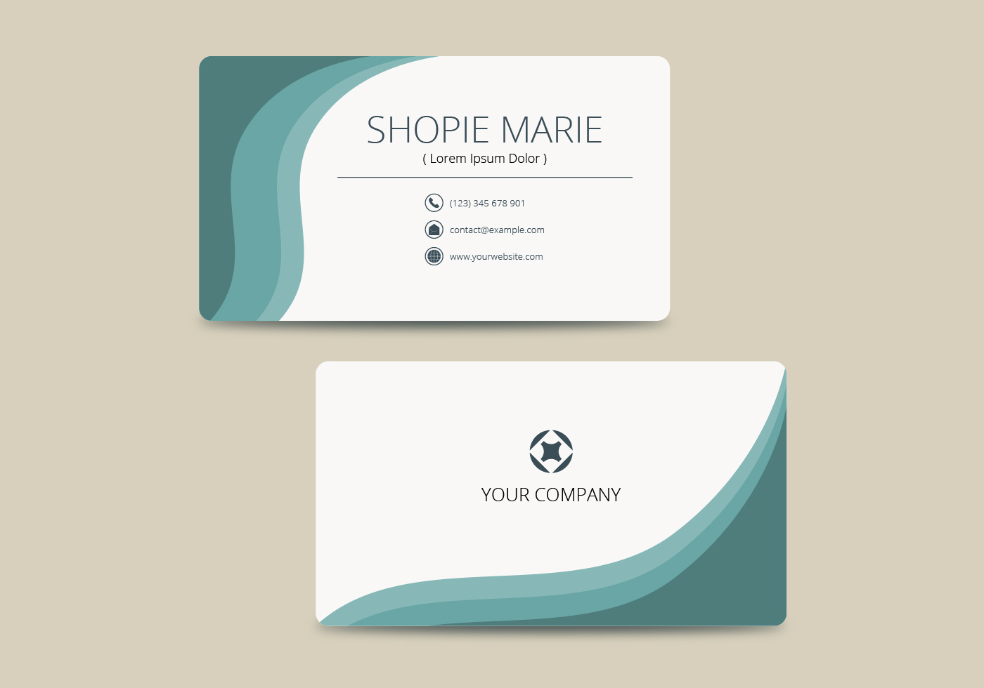 Business Card Template Free Vector Art
