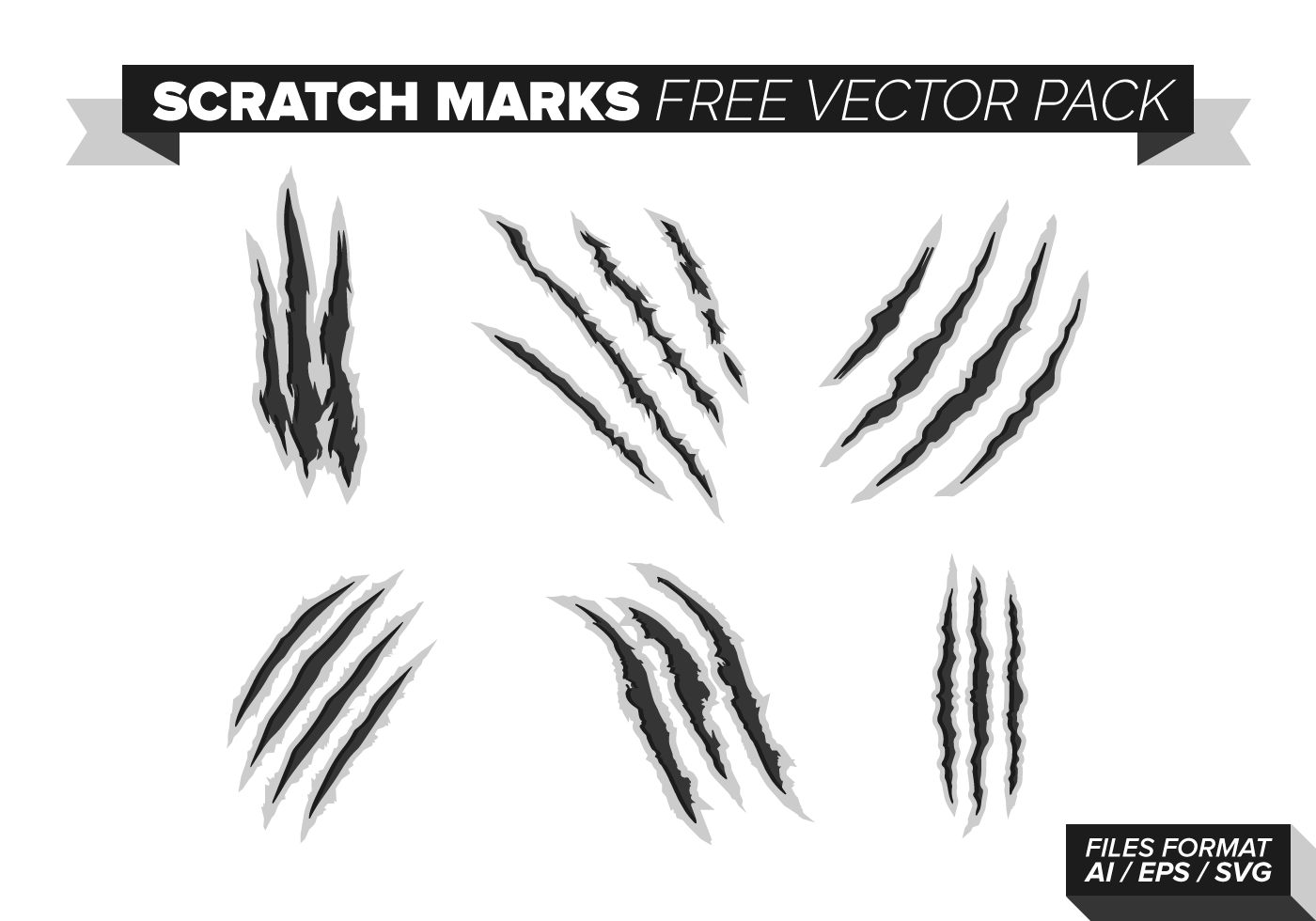 Scratch Marks Free Vector Pack Download Free Vectors
