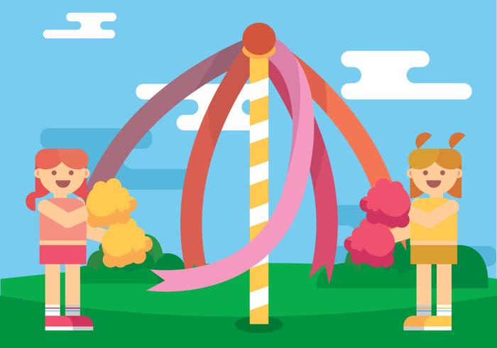 Maypole Kids Vector Art