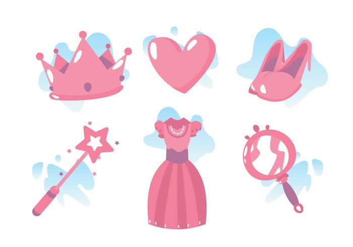 Princesa make up vektor