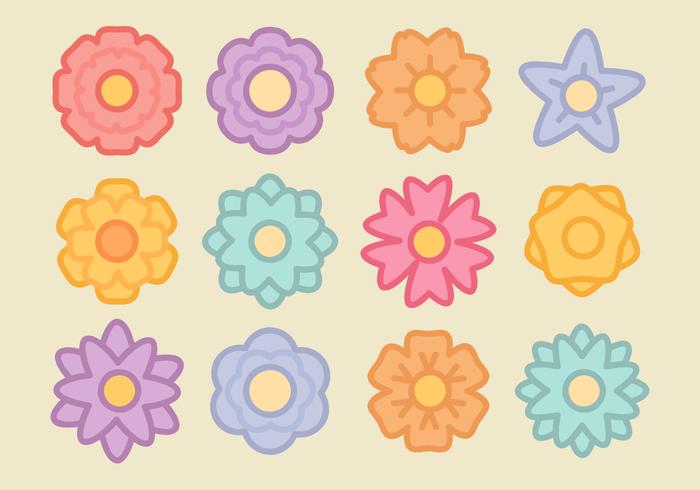 Fleurs minimalistes vecteur libre