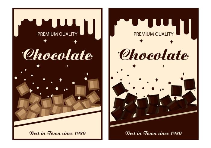 Etiqueta Chocolate Vector Templates