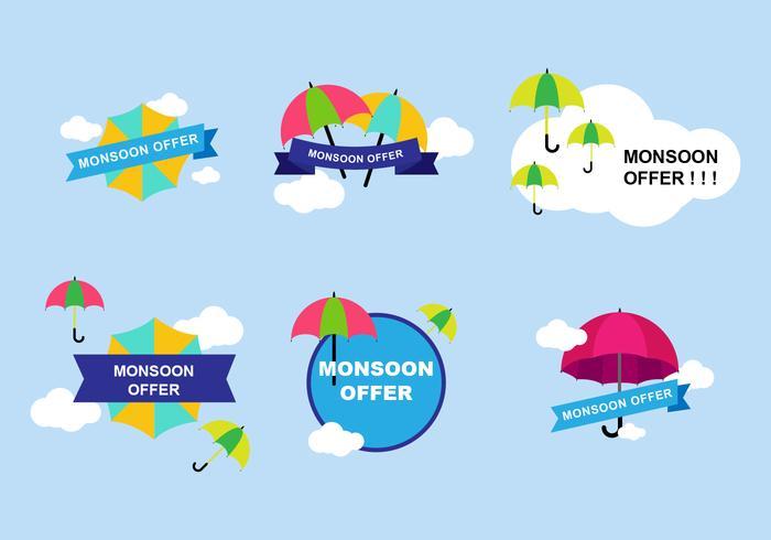 Monsoon Sticker Design