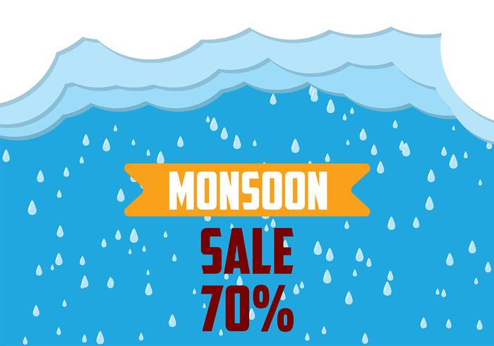 Monsoon Background Vector