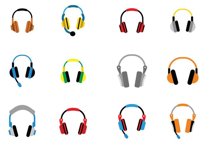 Audio Head Phone Vector ikon