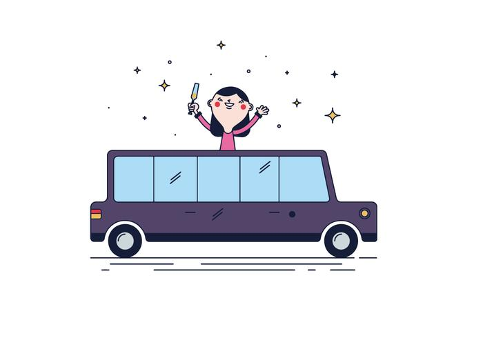 Vector livre Limousine