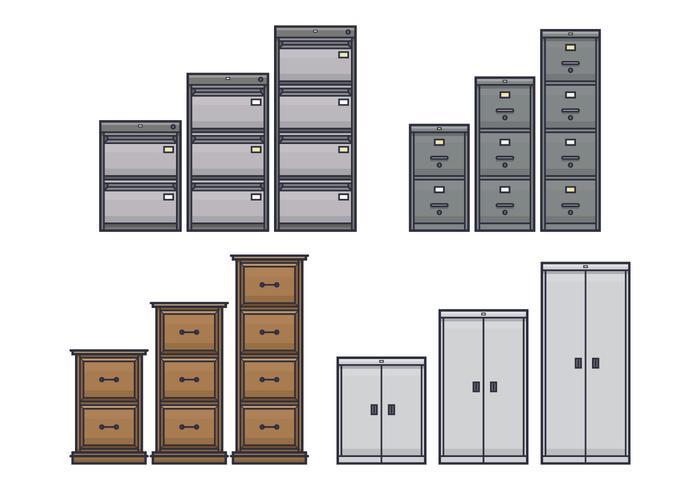 File Cabinet Vectors