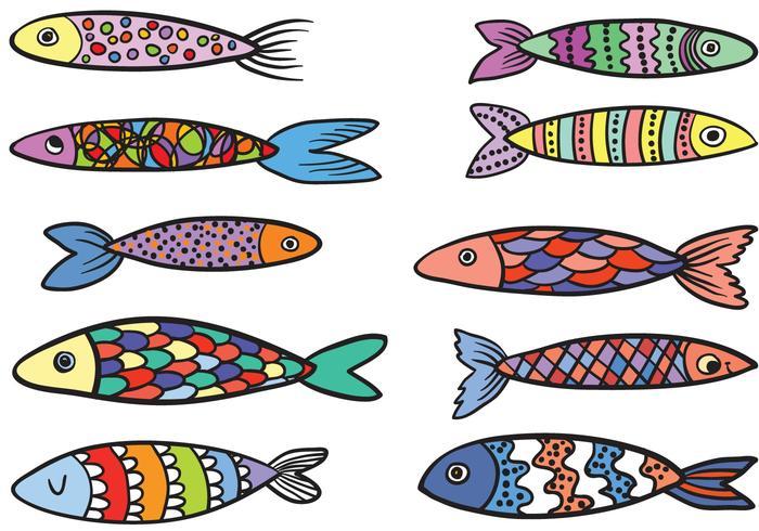 Free Colorful Fish Vectors