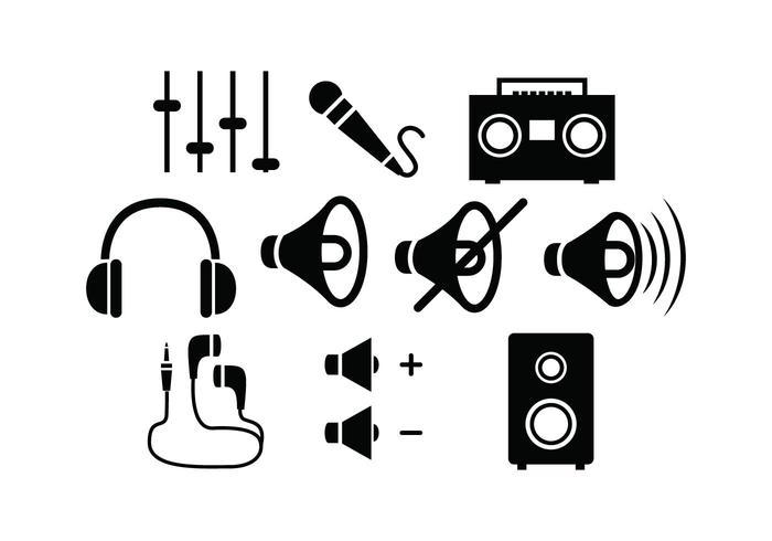 Vector libre silueta sonido