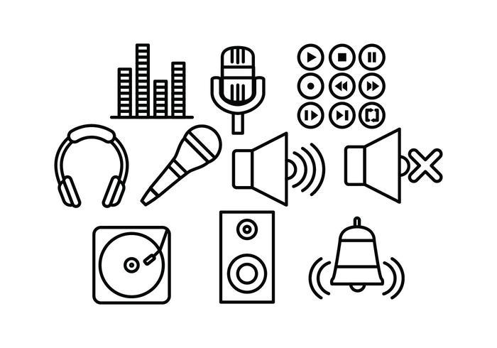 Free Sound lijnvectoren