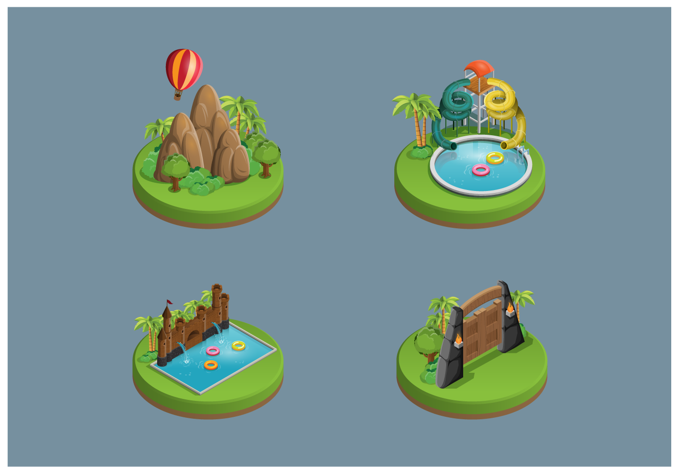 free themepark icons vector download free vector art