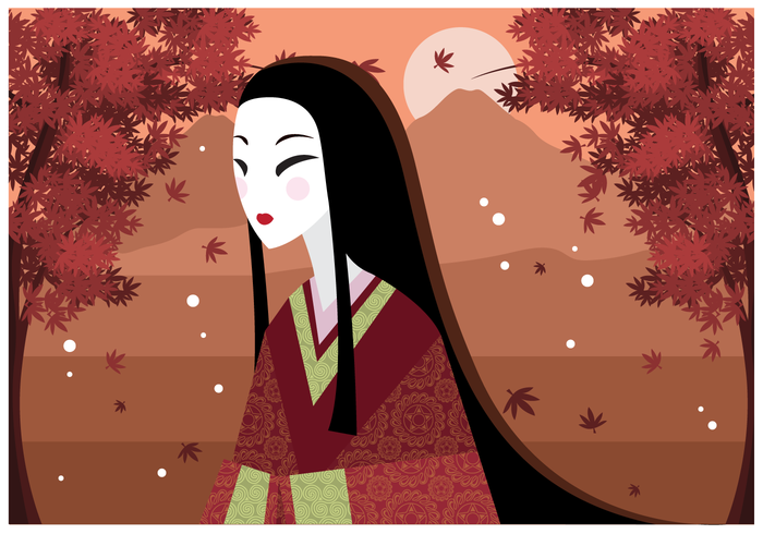 Free Illustration Japanese Woman Vector