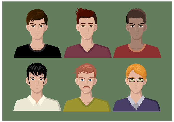 Gratis Man Headshots Vector