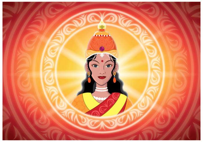 Gratis Lakshmi Illustration Vector