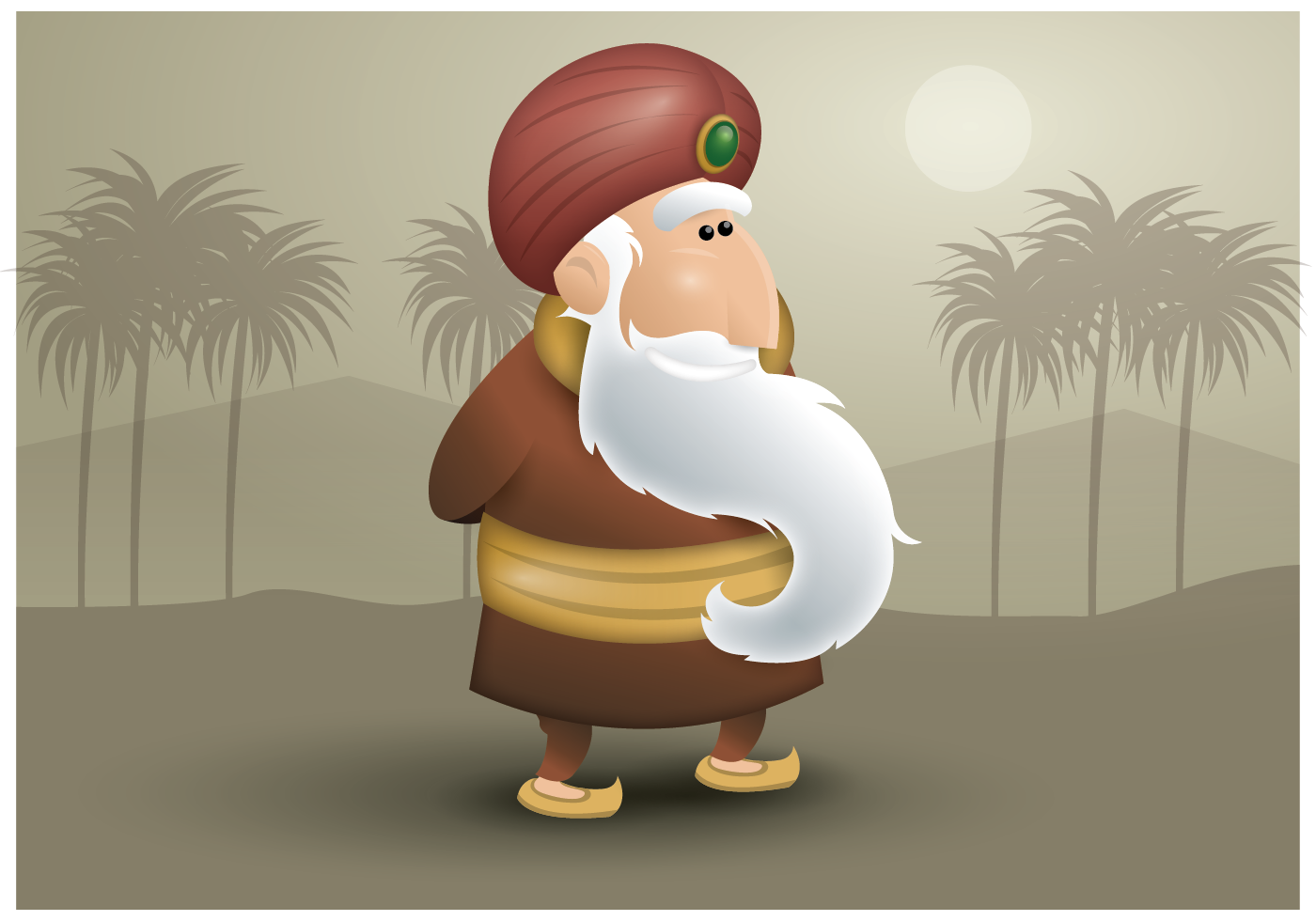 sultan character vector download free vector art stock