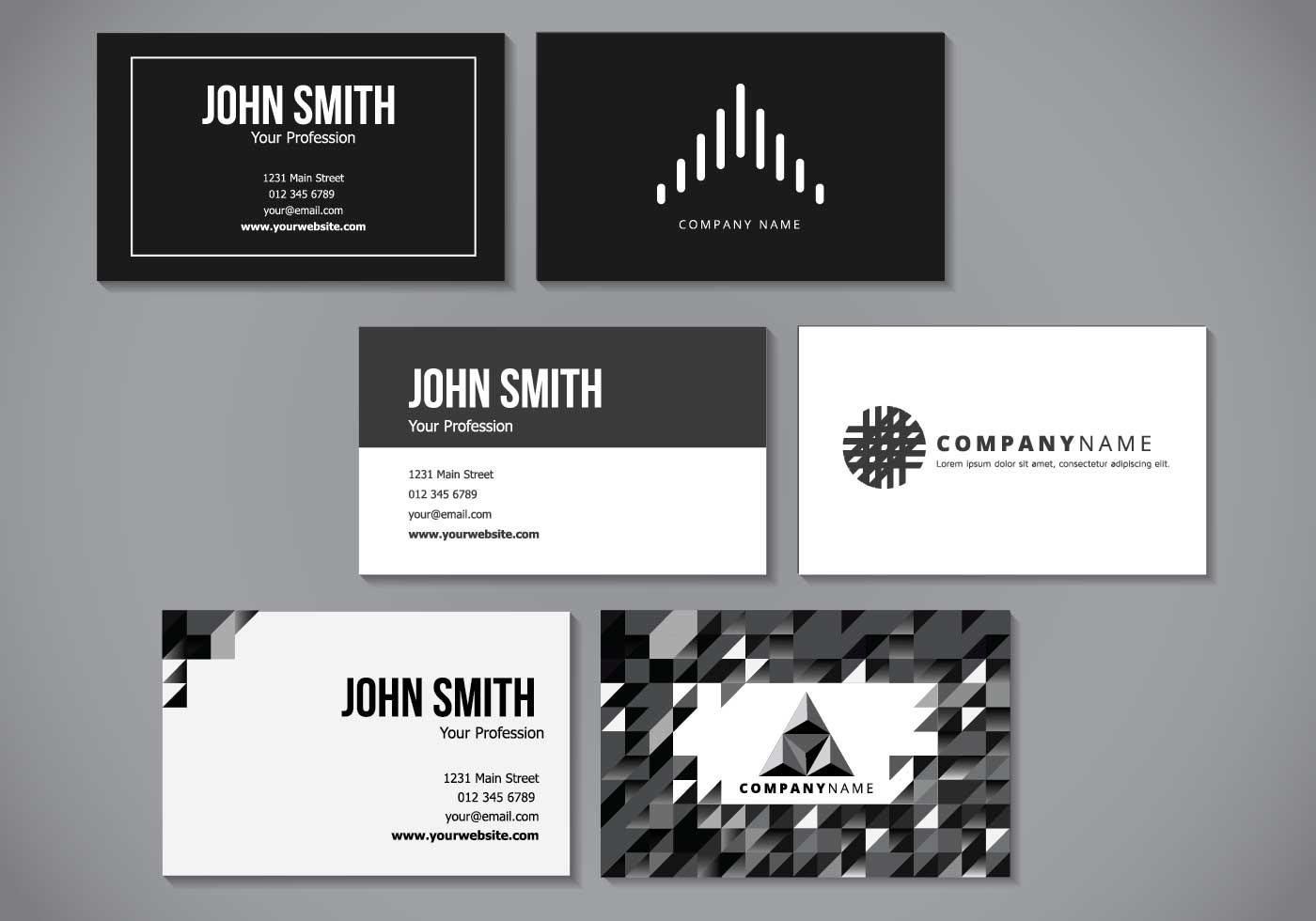 minimalist elegant name card design  download free