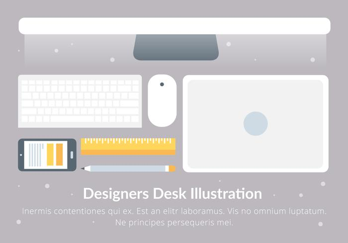 Gratis Designers Desk vektorelement