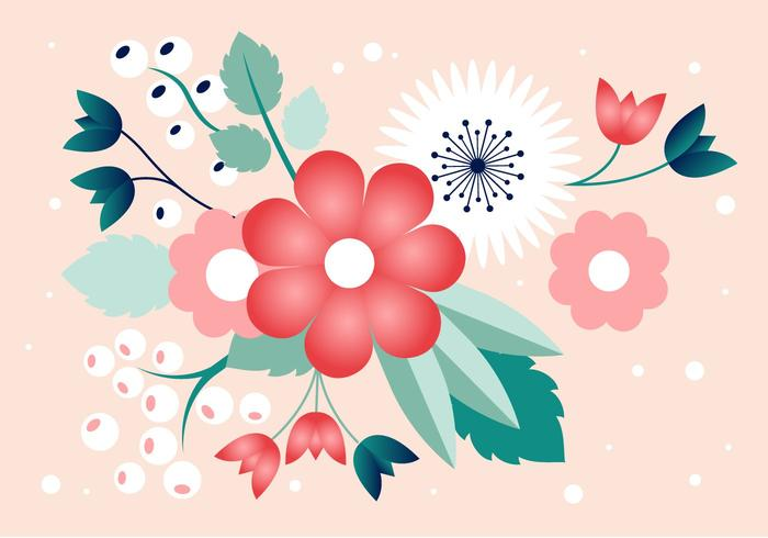 Gratis Spring Flower Vector Design