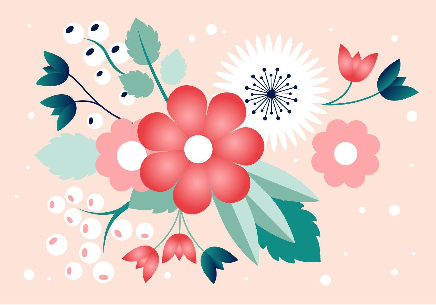 Spring Flower Vector Design Download Free Vector Art
