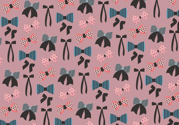 Hair Ribbon Pattern Vector