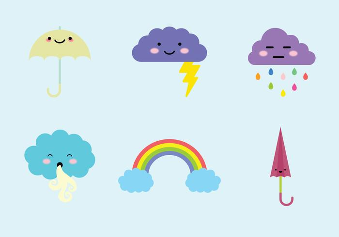 Weather Cuties Vector Elements